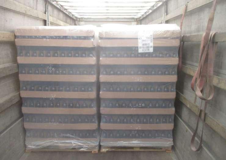 Доставка бутылки из Франции в Казахстан (30 машин)