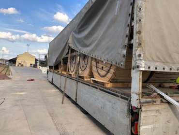 Перевозка катушек из Греции в Казахстан