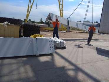 Проектная перевозка металлоконструкций для строительства выставочного центра из Германии в Казахстан