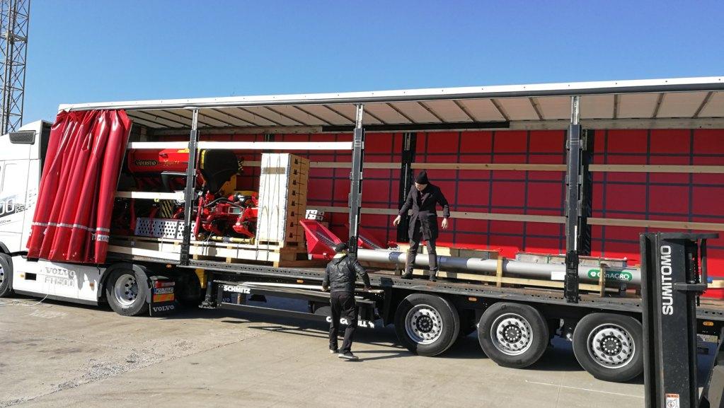 Доставка с/х оборудования из Швеции в Казахстан