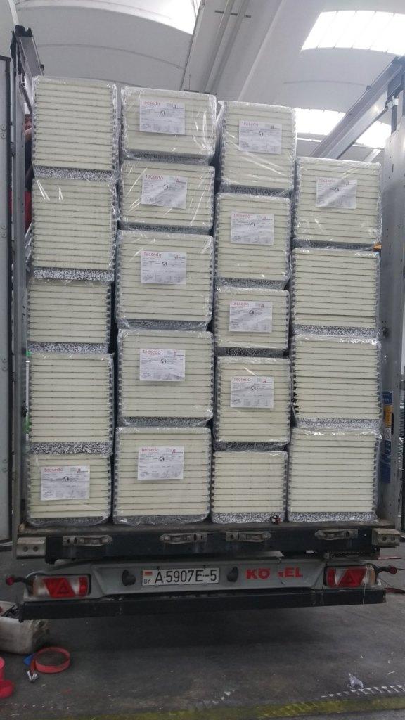 Перевозка сэндвич панелей из Швейцарии в Киргизию