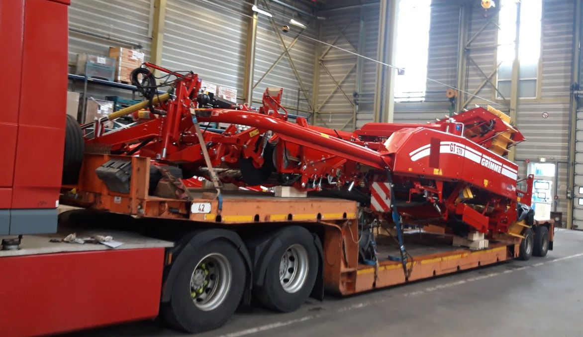 Перевозка негабаритного с/х оборудования GRIMME из Италии в Казахстан