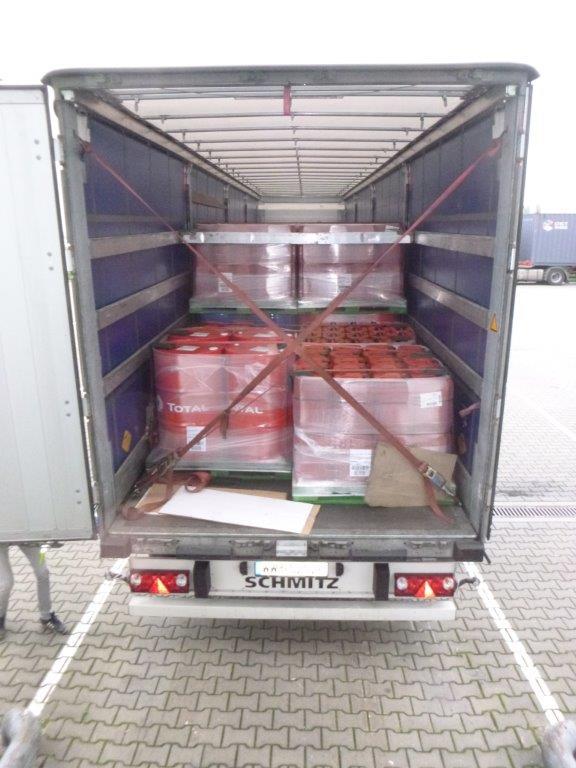Перевозка моторных масел TOTAL из Румынии в Алматы