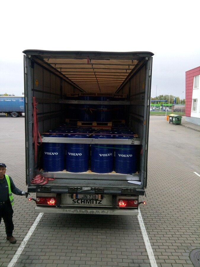 Перевозка моторных масел VOLVO из Финляндии в Алматы